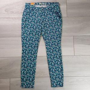 Old Navy Rockstar Floral Super Skinny Jeans 12